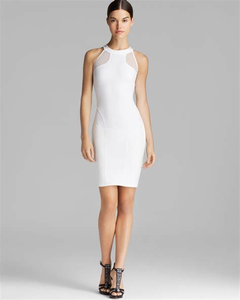 Guess Fashion Gold White guess dress hurley mesh in white lyst