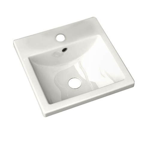 hole in bathroom sink american standard studio carre countertop bathroom sink