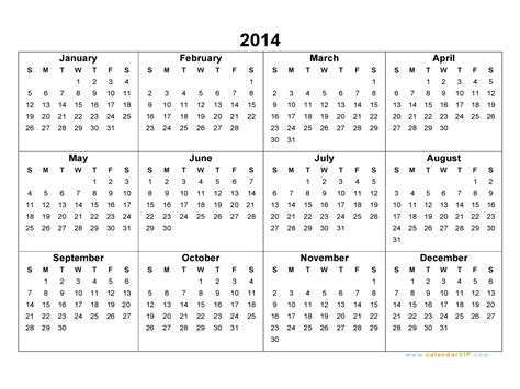 calendar 2014 template doliquid