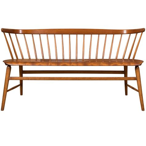 the deacons bench 1960s 1970s scandinavian deacon bench teak and walnut