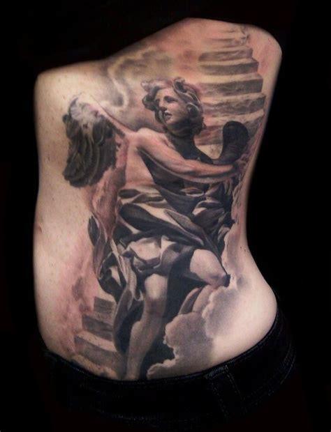 christian tattoo artist fort worth angel stairway by francisco sanchez tattoos