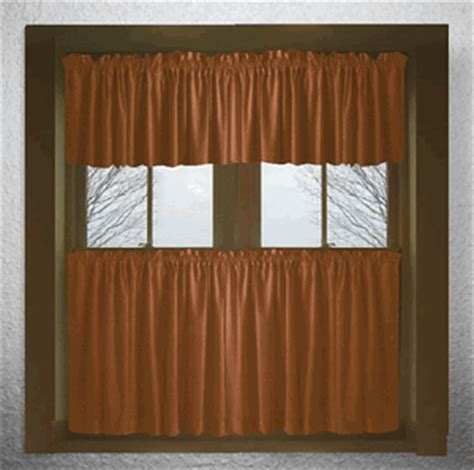 Rust Colored Kitchen Curtains Solid Rust Colored Cotton Kitchen Tier Cafe Curtains