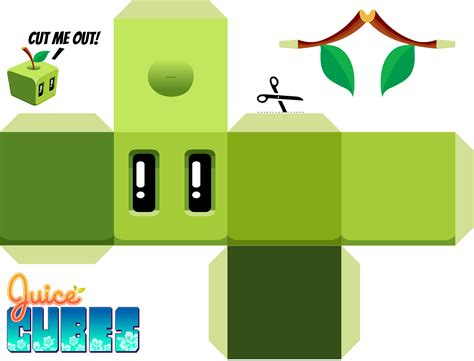 Cube Paper Craft - juice cubes apple papercraft juice cubes