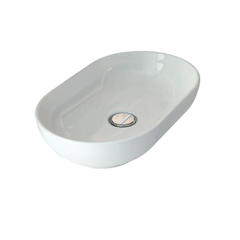 white oval vessel sink barclay products 21 3 4 in oval vessel sink in