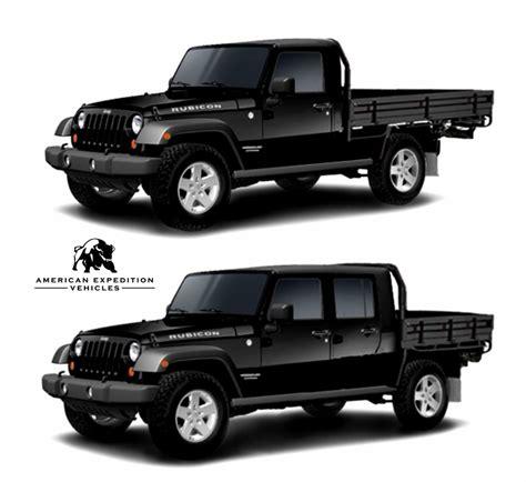 jeep ute conversion aev jk brute teaser