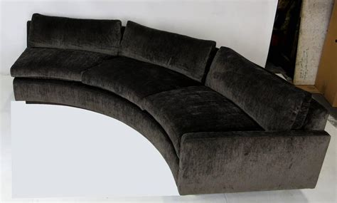 circle sectional sofa large half circle sectional sofa by milo baughman for