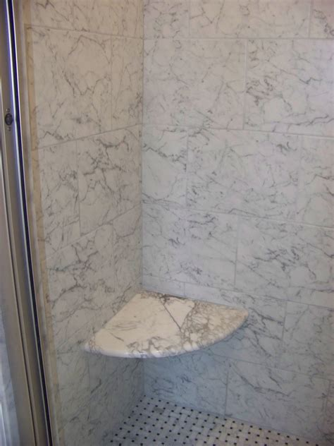 corner shower seat marble showers marbles and corner showers on