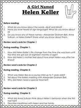 helen keller biography activities helen keller biography activities guided reading