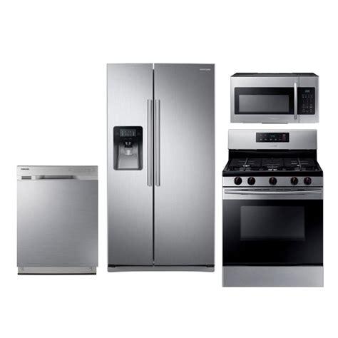 samsung kitchen appliances samsung 4 kitchen appliance package with gas range stainless steel rc willey furniture