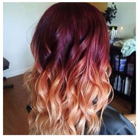 21 ombre hair colors you ll want immediately burgundy to blonde ombre i like the pink hues hair