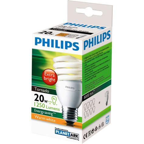 Philips Tornado 20 Watt philips cfl tornado warm white globe 20w es base each
