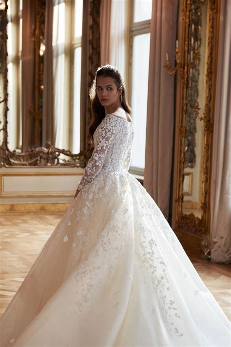 obweddings spring  bridal week elie saab