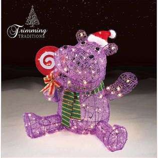 store hippo themes trimming traditions outdoor christmas icy hippo decoration
