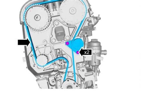 procedure  setting tension   timing belt    volvo