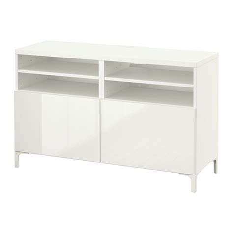 tv bench white gloss best 197 tv bench with doors 120x40x74 cm white selsviken high gloss white ikea