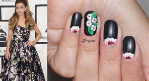 Ariana grande grammy 2014 cherry blossom nails youtube