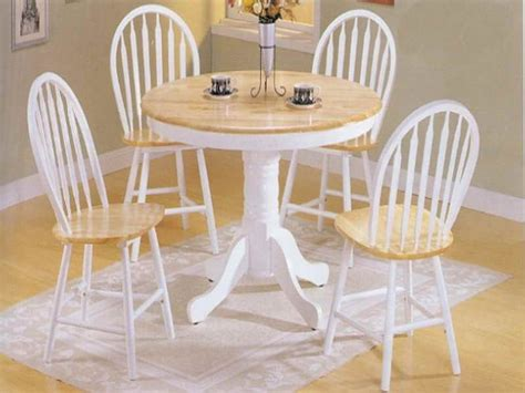 small folding kitchen table and chairs oak wood base white