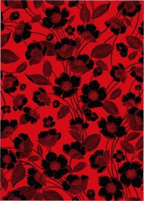 wallpaper garis hitam merah bunga garis vektor latar belakang merah dan hitam vektor