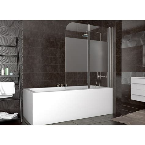 frosted bath shower screens shower enclosure bathtub shower screen folding glass