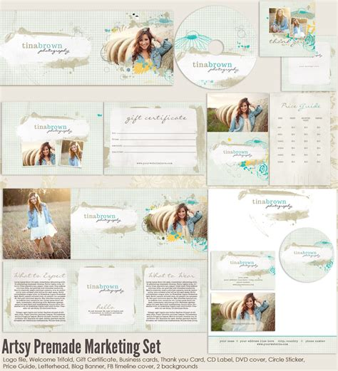 Free Photography Marketing Templates by Artsy Premade Marketing Templates Ms Artsy 20 00
