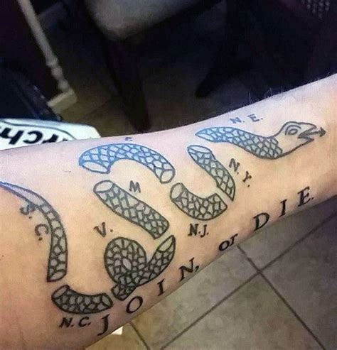 40 join or die tattoo designs for men fierce snake ink ideas