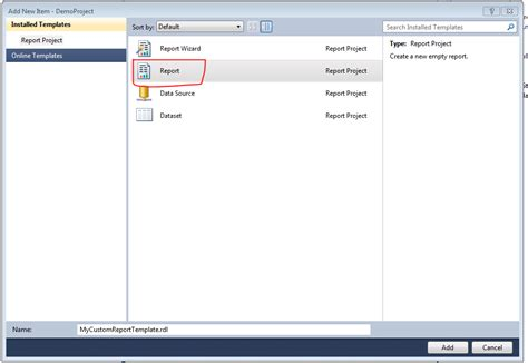 Create Ssrs Report Template Create Custom Template In Ssrs