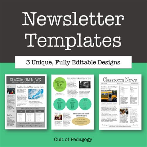 newsletter free templates corkboard connections why no one reads your classroom