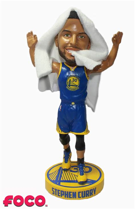 clark w bobblehead stephen curry golden state warriors courtside w real