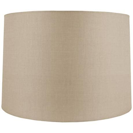 Beige Drum L Shade by Beige Linen Drum Shade 18x19x12 5 Spider 8m198
