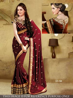 Blouse Cewek Jumbo Talitha Maroon buy maroon embroidered georgette saree with blouse