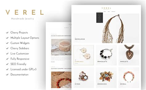15 Best Multipurpose Wordpress Themes From Template Monster Handcrafted Jewelry Website Templates
