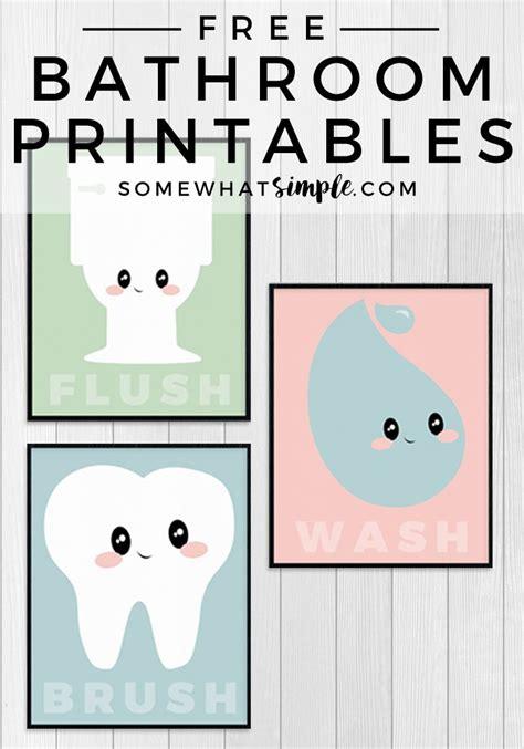 free kids bathroom printables 1000 ideas about kid bathrooms on pinterest bathroom