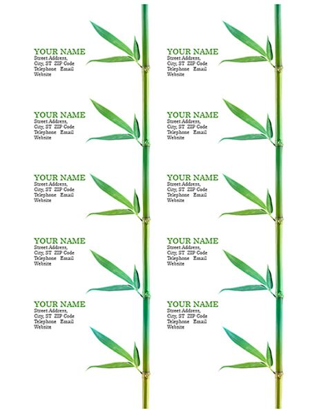 avery 5371 template for word business cards bamboo 10 per page works with avery 5371