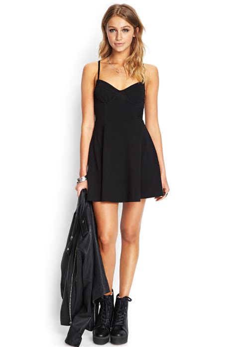 S4065 Kemeja Import Black Soft Cotton Shirt La Kode Yt4065 Forever 21 Soft Knit Bustier Dress In Black Lyst