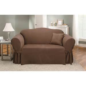 fitted sofa covers sure fit soft suede sofa slipcover