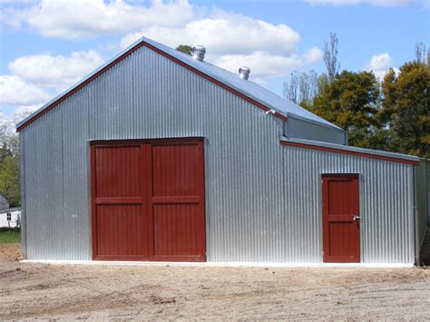 Barn Style Garage by Custom Made Sheds Design Your Own Sheds Fair Dinkum Sheds
