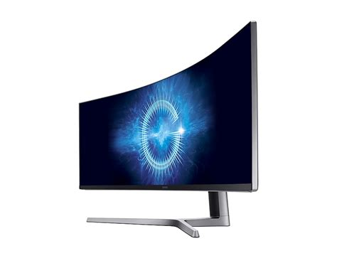 L Samsung Chg90 49 Quot Qled Gaming Monitor With 32 9 Ultra Wide Screen Lc49hg90dmmxzn Samsung Levant