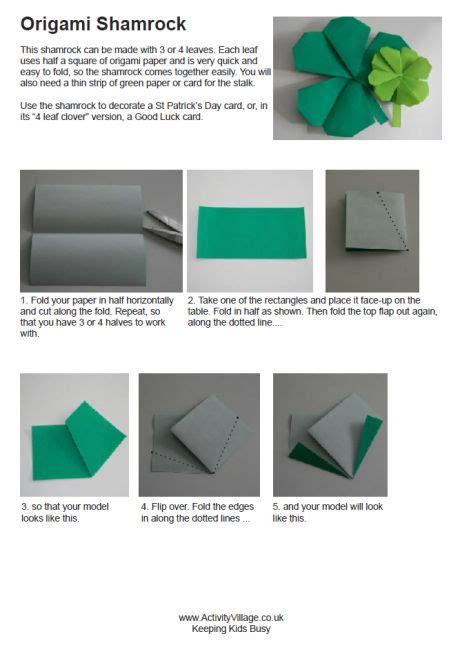 origami shamrock origami shamrock