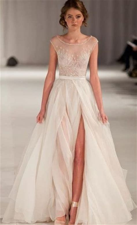 20 Stunningly Sexy Sheer Wedding Dresses   New Love Times