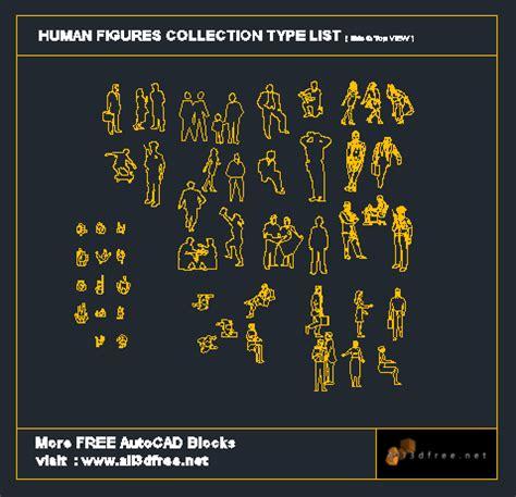 autocad blocks human figures collection