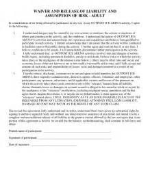 outpost waiver and release of liability