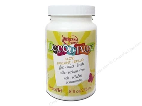 Decoupage Adhesive - decoart adhesive decoupage glue sealer gloss 8oz