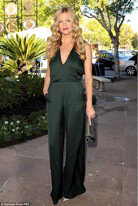 brooklyn tankard is gorgeous better brooklyn decker is gorgeous in green jumpsuit as she