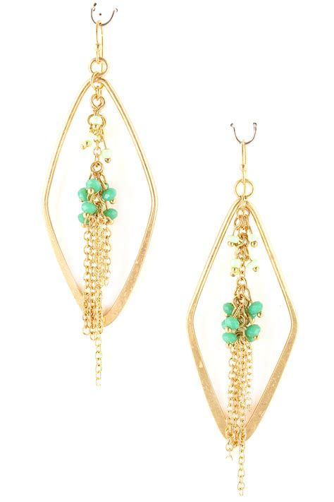 Tassel Earring Key cutout seed bead tassel earrings