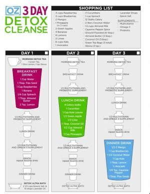 Best Detox Cleanse Shoppers Mart by Dr Oz S 3 Day Detox Cleanse Includes Shopping List