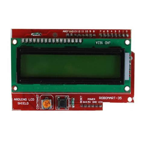 Lcd Arduino 2x16 arduino lcd shield buy arduino lcd shield at best price in india robomart