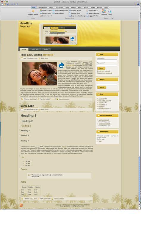 theme drupal pdf klick easy drupal themes mit artisteer erstellen dr web