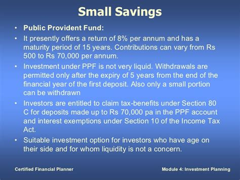 interest on ppf exempt under section investment planning
