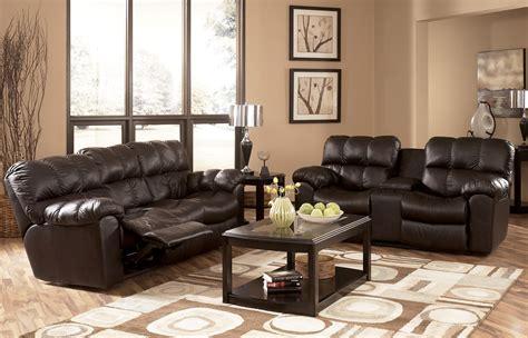 www ashleyfurniture com max chocolate reclining living room set by ashley