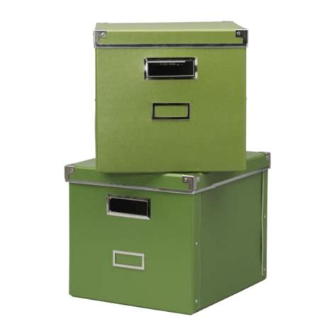 2 x ikea kassett expedit bookcase storage boxes green ebay